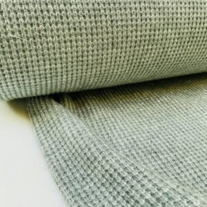Gebreide stof mint/silver