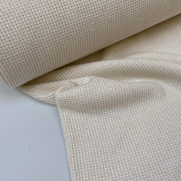 Gebreide stof white/silver