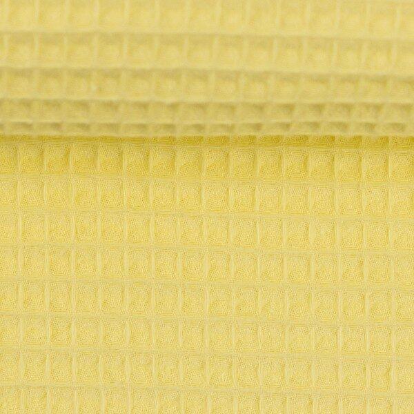 Wafel badstof pastel geel