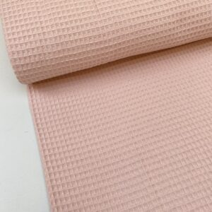 Wafel badstof pastel roze