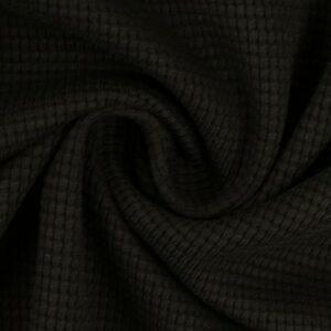Wafeljersey zwart