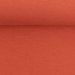 Effen tricot warm oranje