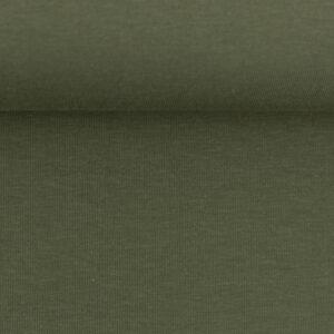 Effen tricot olijf groen
