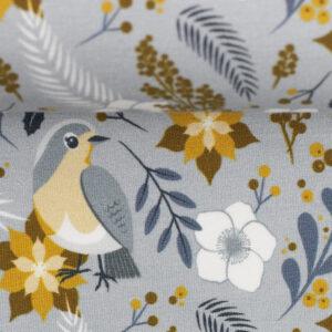 French terry birds autumn