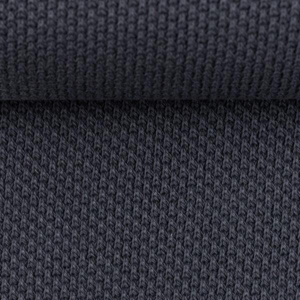 Gebreide stof blauw