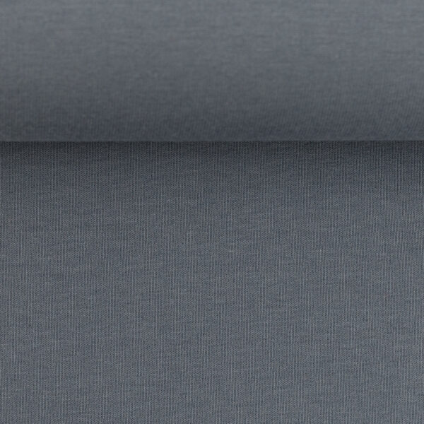 Effen sweater grijsblauw