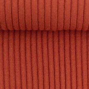 Boordstof ribbel warm oranje